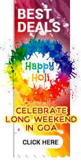 Special Offers for Goa Holidays during Holi Weekend in Goa