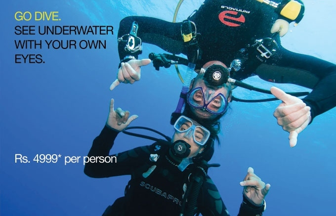 Adventure Activities in Goa : Go Scuba this month !!